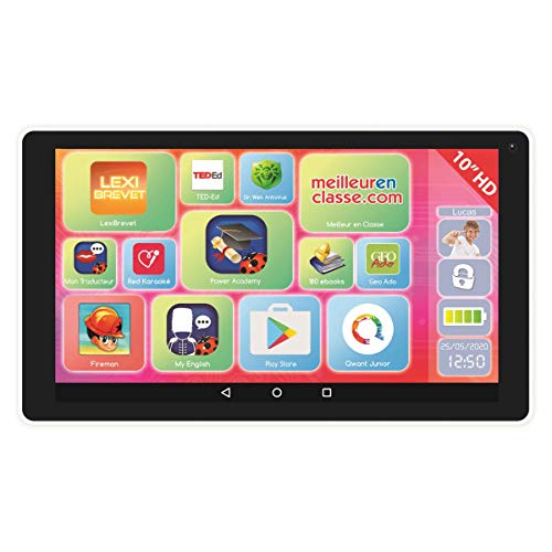 LEXIBOOK LexiTab Indigo-tablette niño con Aplicaciones éducatives, Juegos y Controles parentaux-Android, Wi-Fi, Bluetooth, Google Play, Youtube, mfc10fr, Blanco/Malva