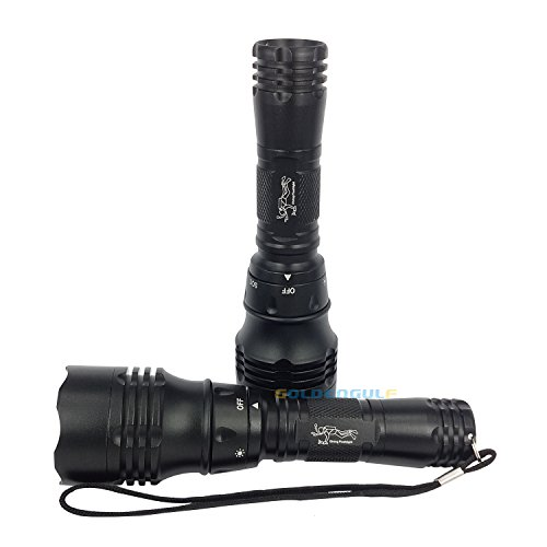 Goldengulf New Model Super Bright Water proof Cree LED Diving Torch Flashlight
