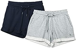 icyzone Workout Lounge Shorts for Women - Athletic Running Jogging Cotton Sweat Shorts, 2 Pack