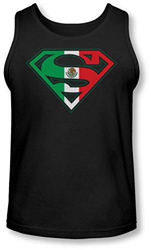 Superman - - Mexican Shield Tank-Top pour hommes, Medium, Black