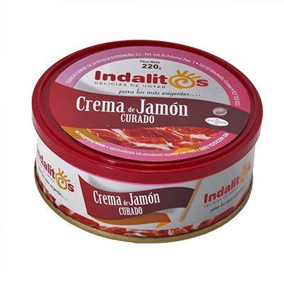 Indalitos - Crema de Jamón Curado - Bandeja 5 latas 220 g