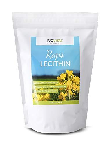 Raps-Lecithin (Lezitin) Pulver, IVOVITAL®, ohne Zusatzstoffe, Reinlecithin (600g)
