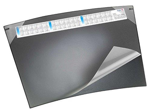 Läufer 41592 bureau-onderlegger Durella Soft Trapez met kalender, 70 x 50 cm, zwart