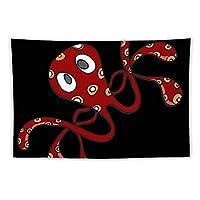 タコの赤 Red 章鱼 壁掛け タペストリー コットン製 大判 多機能 インテリア 装飾用品 ベッドルームリビングルームの壁アートデコレーションホーム装飾 個性プレゼント おしゃれ飾り