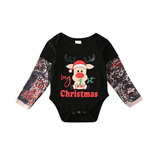Conjunto de ropa de Navidad para recién nacidos, niñas y niños Ciervo 0-6 Meses