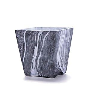 Gran capacidad Cubos de basura de mármol minimalistas de escritorio nórdicos, mesa de centro de la cocina de la sala de estar de la oficina sin el bote de basura del almacenamiento de la cubierta