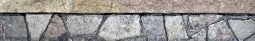 Step Insert for Pouring Textured Concrete Steps, Porches, Risers - 8 inch (Random Stone Ledge)