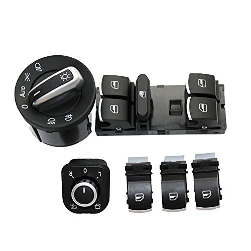 Interruptor de La Botonera Elevalunas, para Golf GTI MK5 MK6 2005-2013, Electrónico Panel Interruptor de Botón