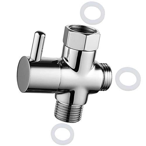Atuful 3 Wege Umschaltventil G 1/2 Massives Messing Brause Umschalter Duschsystem Ersatzteil für Toiletten Badezimmer Küche