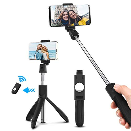 ELEGIANT Bastone Selfie, Asta Selfie Bluetooth Controllo Wireless Selfie Stick Treppiede Per Android iOS iPhone XS Max XR x 8s Huawei P20 P30 Mate Pro Lite 10 iPad Samsung Galaxy s10 s9+ HTC 8X LG ecc
