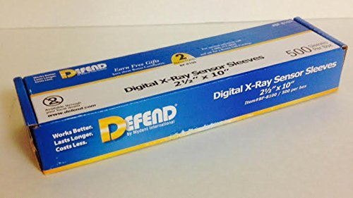 Defend BF-8100 Digital X-Ray Plastic Sensor Sleeves Plastic Sensor Covers 2 1/2' x 10' - 500/Box