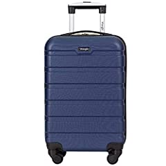 360 degree spinner wheel system for smooth mobility and easy on the wrist Complete fully-lined inner lining with dividing zipper and compression straps for a full journey's packing Top carry handle for easy lifting Hard shell ABS material and lightwe...