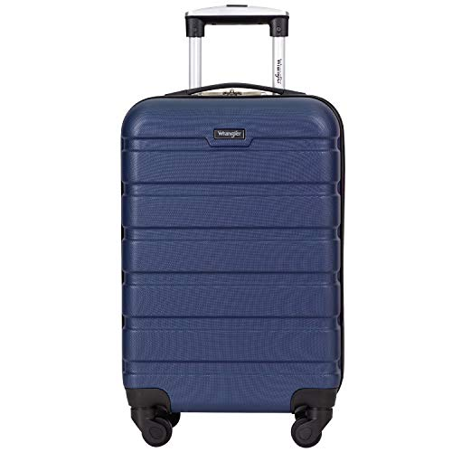 Wrangler 20' Hardside Spinner Carry On Luggage, Navy Blue