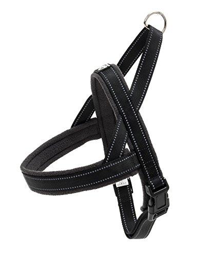 Happilax Gepolstertes Norwegergeschirr für Mittlere und Mittelgroße Hunde, Reflektierend, Verstellbar, 67-86 cm