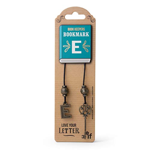 IF Book Keepers Personalised Bookmark - Letter E