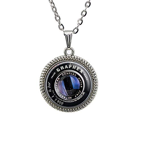 Vintage Camera Lens Necklace Gifts For Photographers Camera Lens Jewelry Pendant