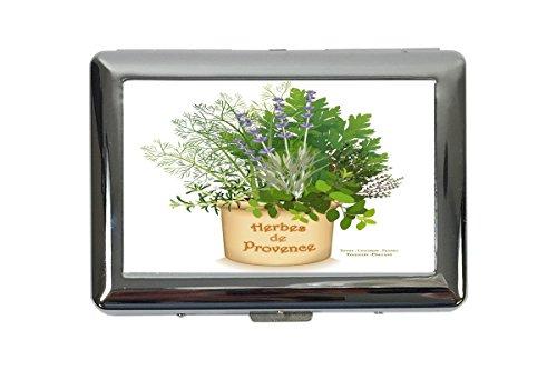 Zigarettenetui Box Retro Kräuter der Provence Bedruckt