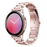 Hatolove 20mm Correa Compatible con Samsung Galaxy Watch Active/ Active 2, Pulsera de Repuesto de Acero Inoxidable Banda de Metal para Galaxy Watch 42mm/Gear S2 Classic/Gear Sport/Galaxy Watch 3 41mm
