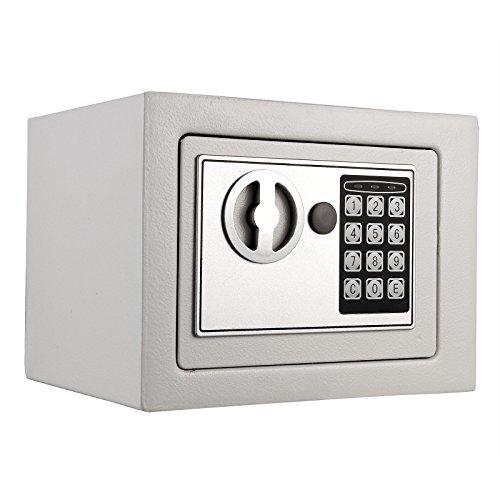 Anmas Home personale digitale elettronico di sicurezza Safe box accesso cassaforte portavalori casa ufficio bianco