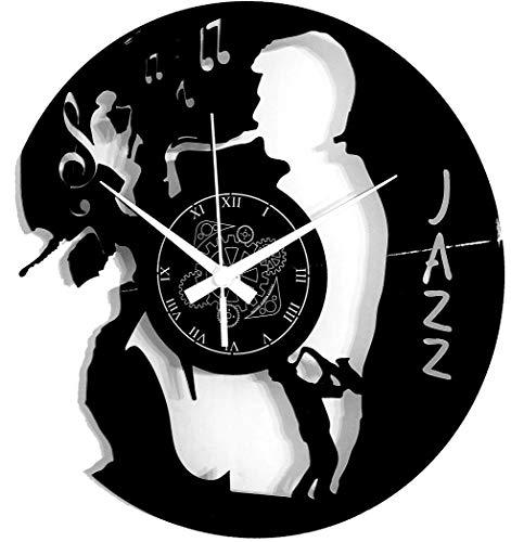 Instant Karma Clocks - Reloj de Vinilo para Pared, Baile, música, Concierto Jazz, Vintage, Hecho a Mano