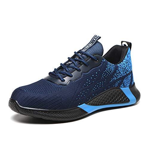 Chaussure de Sécurité Homme Chaussure de Travail Respirant Antidérapante Baskets de Sécurité