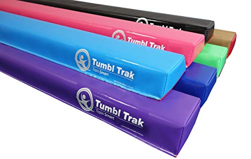 Tumbl Trak 10ft Home Training Low Folding Balance Beam, Black