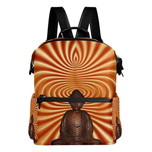 FANTAZIO Mochilas Abstract Buddha Meditation School Bag Daypack