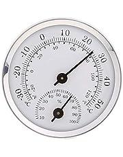 siwetg Termómetro e higrómetro de temperatura montado en la pared para la sauna habitación del hogar 58 mm de diámetro higrómetro