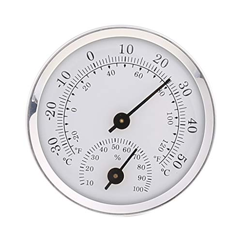 storage bag Station météo - Thermomètre hygromètre à suspendre - Pour intérieur et extérieur - Cadran météo
