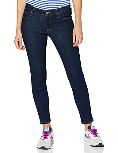 Lee Damen Scarlett Jeans, Solid Blue Kt, 29W / 29L