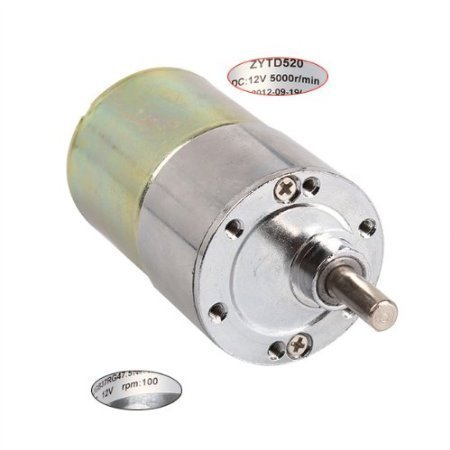 BQLZR hohem Drehmoment 12V DC 100 RPM Getriebe Box Electric Motor Ersatz 5000r/min