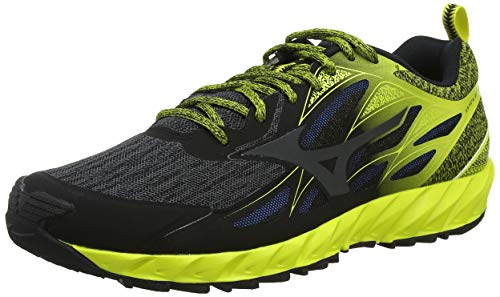 Mizuno Wave Ibuki, Zapatillas de Running para Asfalto Hombre, Negro (Black/Dark Shadow/Bolt 51), 44.5 EU