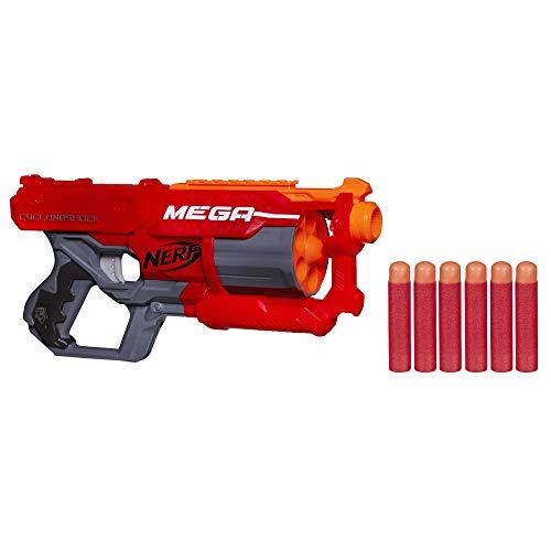 Hasbro A9353EU6 - MEGA CycloneShock Schnellfeuer-Spielzeugblaster, mit großen Darts