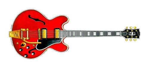 Tarjeta de felicitación de guitarra Gibson ES-355 de Noel Gallagher, DL tamaño