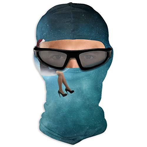 N/Een Full Face Masker Kerstman Vrouw Met Spyglass Hood Zonnebrandcrème Masker Dubbele Laag Koud Voor Mannen En Vrouwen