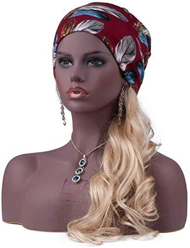 Mannequins de couture reglable Femme Mannequin tête et le buste noir ton de la peau avec le maquillage réaliste perruque d'affichage de bijoux support peut apporter des boucles d'oreilles porte vêteme
