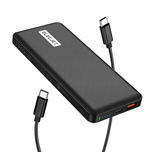 25W USB C Super Fast Charging Power Bank, ELECJET P10 Portable Charger Battery Pack for Samsung Galaxy Note 10 Plus/Note 20 Ultra/S20 Ultra 5G/S21/A70/A71/A80/A90 5G/Z fold 2/Tab S7 Plus,QC4+ Listed