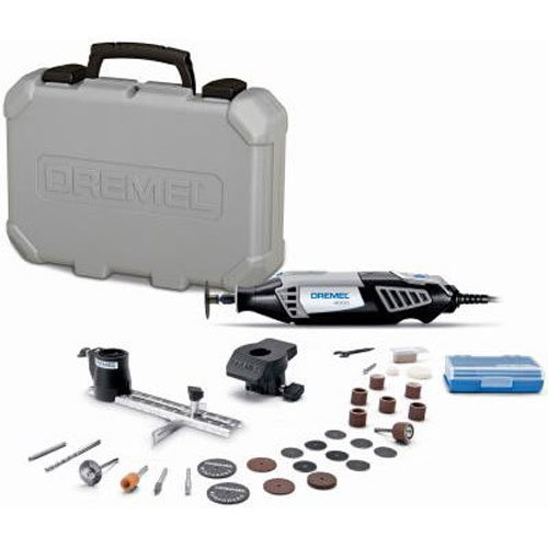 Dremel 4000-2/30 High Performance Rotary Tool Kit- 2 Attachments & 30 Accessories- Grinder, Sander,...