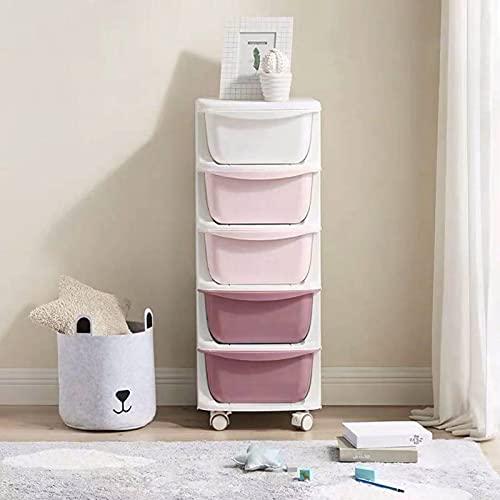 WWWFZS Barnleksakshylla låda förvaringsskåp plast sovrum sänglåda (färg: lila)