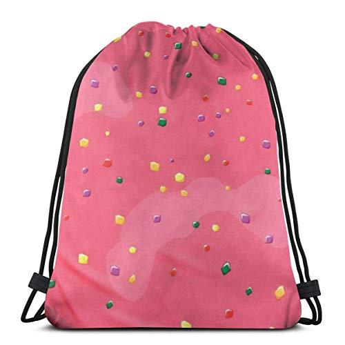 IUBBKI Pink Toaster Kordelzug Rucksack Sport Gym Sackpack Reisetasche für Kinder Männer Frauen