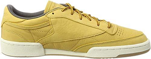 Reebok Club C 85 WP, Zapatillas de Deporte para Hombre, Dorado (Golden Wheat/Urban Grey/Chalk/Gum), 40 EU