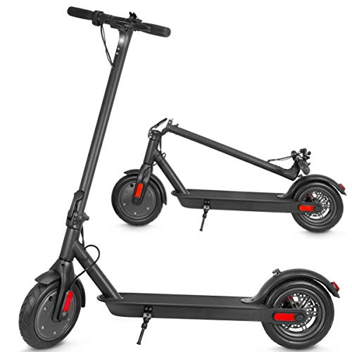 XPRIT Electric Scooter, Up to 15 Miles Range, 2 Gear Speed Mode (Black, 10'' Wheel)