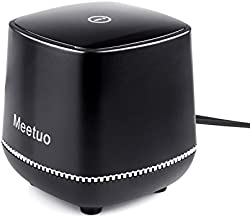 Wired Speaker, Meetuo Computer Speakers for Desktop, USB Powered Mini Speakers with 3.5mm Jack Stereo Sound for Laptop, PC, Desktop, Office(Black)
