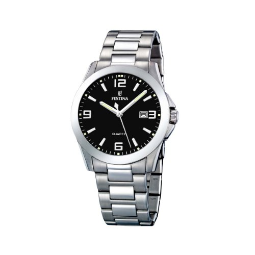 Festina Herren Analog Quarz Uhr mit Edelstahl Armband F16376/4