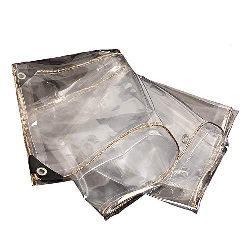 Glass Clear Tarpaulin Transparent Waterproof Tarpaulin Outdoor Covering, PVC Fabric, 100% Transparent Rain Cloth, 0.35 Mm Thick (Size : 1×2m)