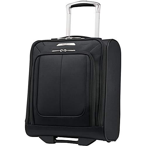 Samsonite SoLyte DLX Softside Luggage, Midnight Black, Underseat