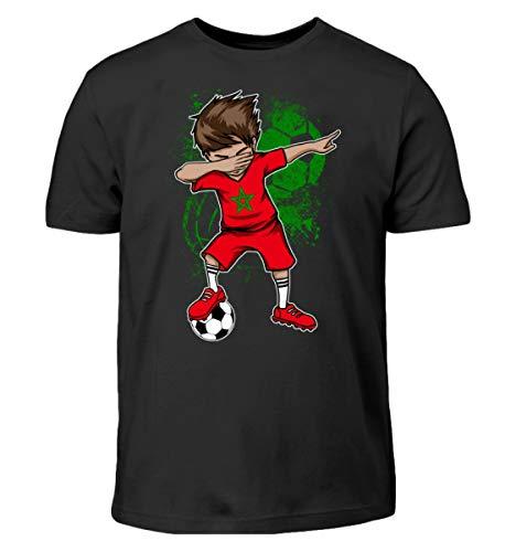 Dabbender Fußballspieler Junge - Marokko/Fußball Trikot/Nationalmannschaft/Geschenk - Kinder T-Shirt
