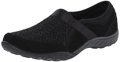 Skechers Breathe-Easy-Our Song, Baskets Basses Femme, Noir-Noir, 36 EU