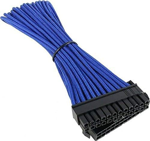BITFENIX Verlängerungskabel (24-Polig ATX), 30 cm blau/schwarz