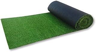 人工芝ロール 1m × 10m 固定ピン 22本付 透水タイプ マット 人工 芝 ベランダ 庭(グッドライフウッド)